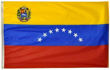 "8x12"" Venezuela Rayon Mounted Flag"