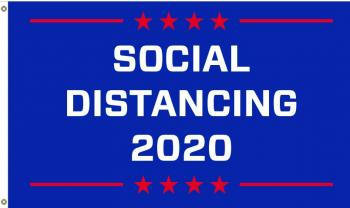 3x5' Social Distancing Flag - Stars
