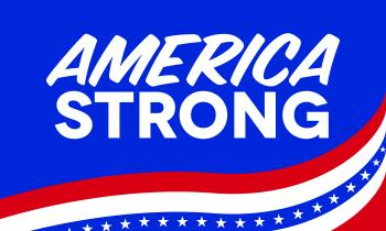 America Strong Decal - 4x6""
