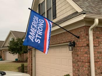 America Strong House Banner Flag - 2.5' x 4'